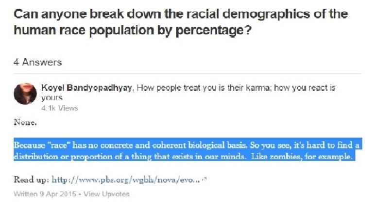 race opinion